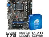 MSI G41M-E43 Motherboard and Intel Pentium Dual Core E5400 Processor Bundle (MSI Computer: G41M-E43 w/ E5400)