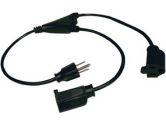 TRIPP LITE 1 ft. 18AWG Power Y Cord (NEMA 5-15P to 2xNEMA 5-15R) (Tripp Lite: P022-001-2)