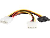StarTech PYO1LP4SATA 6in LP4 to LP4 SATA Power Y Cable Adapter (STARTECH: PYO1LP4SATA)