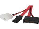 "StarTech 12"" Micro SATA to SATA with LP4 Power Cable Adapter (STARTECH: MCSATAM12)"
