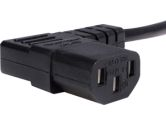 StarTech 10 ft. Standard Computer Power Cord - NEMA 5-15P to Right Angle C13 (STARTECH: PXT101L10)