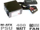 SilenX IXM-40-14 400W mATX Power Supply - 400 Watts, 60mm Fan, AMD/Intel, mATX, Whitebox, OEM (SilenX: IXM-40-14)