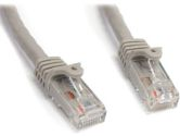 10FT Gray CAT6 UTP Snagless Patch Cable (Startech.com Ltd: N6PATCH10GR)
