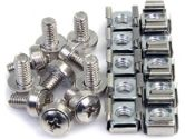 StarTech CABSCREWM6 M6 Mounting Screws and Cage Nuts - 50 Pack (Startech: CABSCREWM6)