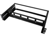 StarTech ADJDINKIT Adjustable Rack Mount DIN Rail Kit - 2U, Steel, Black (Startech: ADJDINKIT)