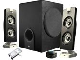 Cyber Acoustics CA-3602 2.1 Flat Panel Design Speaker System (Cyber Acoustics: CA-3602)