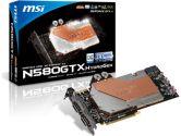 MSI GeForce GTX 580 (Fermi) N580GTX HydroGen/OC Video Card (MSI/MicroStar: N580GTX HydroGen/OC)