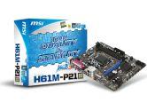 MSI H61M-P21  H61 mATX LGA1155 DDR3 PCI-E16 3PCI-E VGA Audio LAN SATA2 Motherboard (MSI/MicroStar: H61M-P21 (B3))