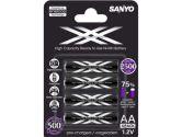 Sanyo Xx Eneloop Rechargeable Battery AA 4 Pack 2500MAH Made in Japan (Sanyo: XXAA4)