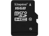 16GB Kingston microSDHC Memory Card (Kingston: SDC4/16GBSP)