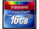 Transcend 16GB Compact Flash (CF) 400X Flash Card (Transcend: TS16GCF400)