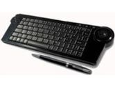 SolidTek Black 2.4GHz Wireless Keyboard with Trackball (SolidTek: KB-4251B)