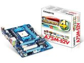 Gigabyte A75M-S2V mATX AMD FM1 A75 2PCI-E16 1PCI-E1 1PCI DDR3 HDMI DVI SATA3 USB 3.0 Motherboard (Gigabyte: GA-A75M-S2V)