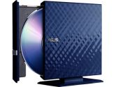 ASUS 6X External Slim Blu-Ray Writer 6X BD-R 8X DVD+R USB Blue Retail (ASUS: SBW-06C1S-U/DBLU/G)