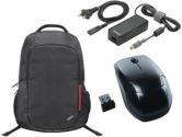 Lenovo Thinkpad Mobility Bundle With 65W AC Adapter Wireless Laser Mouse & Thinkpad Backpack (Lenovo: 0A33885)