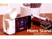 Silicone HAND-FREE Horn Amplier - Stand for iPhone PINK (Others: ACC-IPHONE-HORN-Pink)