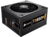 Corsair Enthusiast Series TX650M 650W ATX Modular Power Supply Active PFC 120MM Fan 5 Year Warranty (Corsair: CP-9020002-NA)