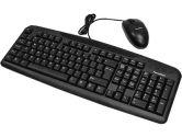 USB Keyboard + USB Wheel Mouse Combo Black (Others: KB-USB-COMBO)