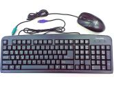 Black PS/2 Keyboard + PS/2 Wheel Mouse Combo (Others: KB-KB+MOUSE)