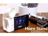 Silicone Horn Stand for IPONE-EFFECTIVELY Amplified Music From Your iPhone White (nGear Technologies Inc.: ACC-IPHONE-HORN)