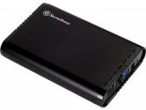"Silverstone TS07B 3.5"" SATA III USB 3.0 TOOL-LESS SSD or HDD Enclosure Black (Silverstone Technology: TS07B)"