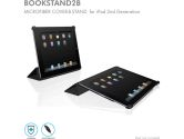 Macally Black Microfibre Leather Cover and Stand for IPAD2 (Macally: BOOKSTAND2B)