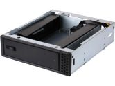 "SilverStone FP57B Stackable 5.25"" to 3.5"" Hot-swap Drive Bay Adapter - Black (Silverstone: FP57B)"