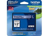 Brother TZE-131 1/2IN 12MM Black On Clear Labeling Tape Cartridge (Brother Printer Supplies: TZe-131)