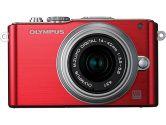 Olympus Pen E-PL3 Digital Camera Red 14-42MM Lens 12.3MP Live Mos Sensor 3.0IN Tilt LCD 1080P HD (OLYMPUS IMAGE SYSTEMS: V205031RU000)