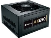 Corsair Professional Series Gold AX650 650W ATX 12V 54A Fully Modular 80PLUS Gold Power Supply (Corsair: CP-9020006-NA)