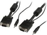 StarTech 30 ft. Coax High Resolution Monitor VGA Cable with Audio (STARTECH: MXTHQMM30A)