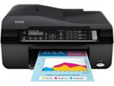 Epson 520 C11CA78241 Workforce All-in-One Color InkJet Printer - 5760 x 1440 Optimized dpi, 15 ppm Black, Copy, Scan, Fax, ADF, USB 2.0, WiFi, LCD Display (Epson: C11CA78241)