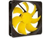 SilenX EFX-12-12 Effizio Silent Case Fan - 120mm, Fluid Dynamic Bearing, 12dBA, 1100 RPM, Yellow Blades (SilenX: EFX-12-12)