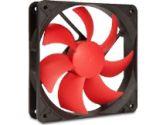 SilenX EFX-12-15 Effizio Silent Case Fan - 120mm, Fluid Dynamic Bearing, 15dBA, 1400 RPM, Red Blades (SilenX: EFX-12-15)