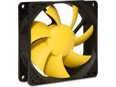 SilenX EFX-08-12 Effizio Silent Case Fan - 80mm, Fluid Dynamic Bearing, 12dBA, 1400 RPM, Yellow Blades (SilenX: EFX-08-12)