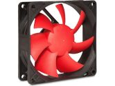 SilenX EFX-08-15 Effizio Silent Case Fan - 80mm, Fluid Dynamic Bearing, 15dBA, 1700 RPM, Red Blades (SilenX: EFX-08-15)