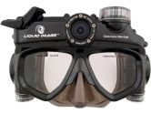 Liquid Image Scuba Series Wide Angle 12.0MP HD720P Xlarge Integrated Diver Mask/Camera - Charcoal (Liquid Image: 319)