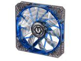 Bitfenix Spectre Pro BFF-LPRO-14025B-RP 140MM Blue LED Case Fan 1200 RPM 86.73 CFM 22.8 dbA (BitFenix: BFF-LPRO-14025B-RP)