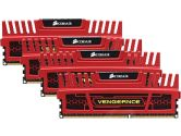 Corsair CMZ16GX3M4X2133C11R Vengeance Red 16GB 4X4GB DDR3-1866 CL11-11-11-27 Quad Channel Memory Kit (Corsair: CMZ16GX3M4X2133C11R)