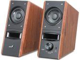 Genius SP-HF800 20 Watts Pro Elegant Bookshelf Speakers W/ Dual Audio Inputs Headphone Jack (GENIUS: GN-SK02-HF800PRO)