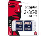 Kingston SD4/8GB-2P 8GB SDHC Class 4 Flash Card Twin Pack (Kingston: SD4/8GB-2P)