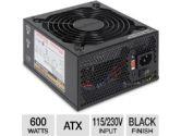 Ultra LSP 600-Watt ATX Power Supply -  600W, ATX, 115/230V, Limited Edition, Black Finish, Lifetime Warranty w/ Registration (Ultra: AD-5520N2-36)