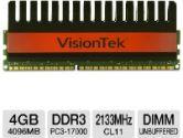 VisionTek 900493 Desktop Memory Module - 4GB, PC3-17000, DDR3-2133MHz, 240-pin DIMM, 1.65V, CL11, Non-ECC, Unbuffered (VisionTek: 900493)