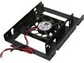 "Rosewill RDRD-11003 2.5"" SSD / HDD Mounting Kit for 3.5"" Drive Bay w/60mm Fan (Rosewill: RDRD-11003)"