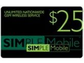 Simple Mobile  15 days Unlimited Nationwide Talk and  Text (Simple Mobile: $25 Re-Up Value)