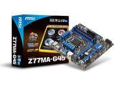 MSI Z77MA-G45 mATX LGA1155 Z77 DDR3 2PCI-E16 2PCI-E1 SATA3 DVI HDMI VGA USB3.0 Motherboard (MSI/MicroStar: Z77MA-G45)