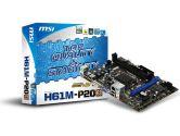 MSI H61M-P20  H61 mATX LGA1155 DDR3 PCI-E16 1PCI-E DVI VGA Audio LAN SATA2 Motherboard (MSI/MicroStar: H61M-P20 (G3))