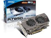 MSI Radeon HD 7850 Twin Frozr III 860MHZ 2GB 4.8GHZ GDDR5 DVI HDMI 2x MINI-DP PCI-E Video Card (MSI/MicroStar: R7850 Twin Frozr 2GD5)
