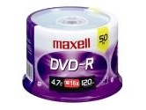 Maxell 16X DVD-R 4.7 GB 50 Disc Spindle (Maxell: 638011)