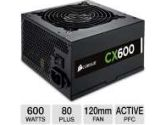 Corsair CX Series CX600 600W ATX 12V 80 Plus Bronze Power Supply 140mm Fan (Corsair: CP-9020048-US)